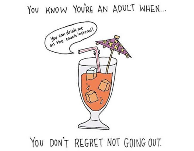 Funny Illustrations show you're An Adult 12