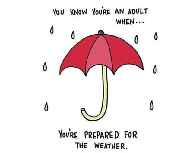 Funny Illustrations show you're An Adult 25
