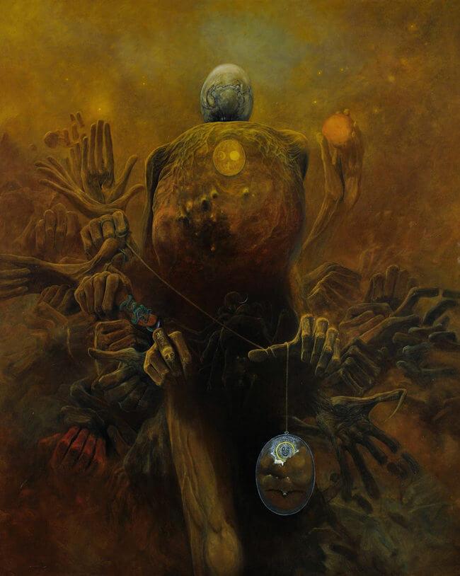 Zdzislaw Beksinski terrifying art 18