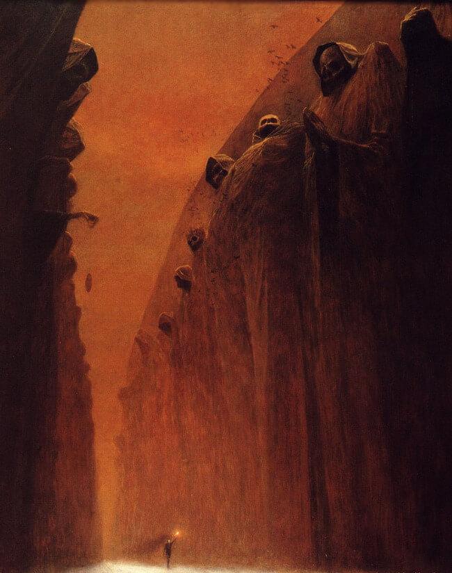 Zdzislaw Beksinski terrifying art 4
