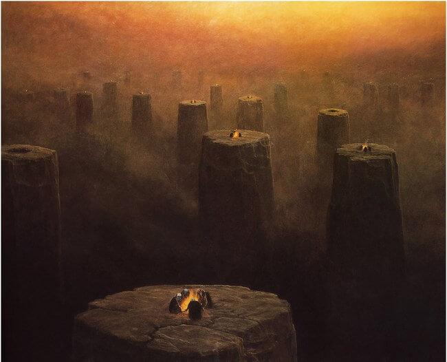 Zdzislaw Beksinski terrifying art 17