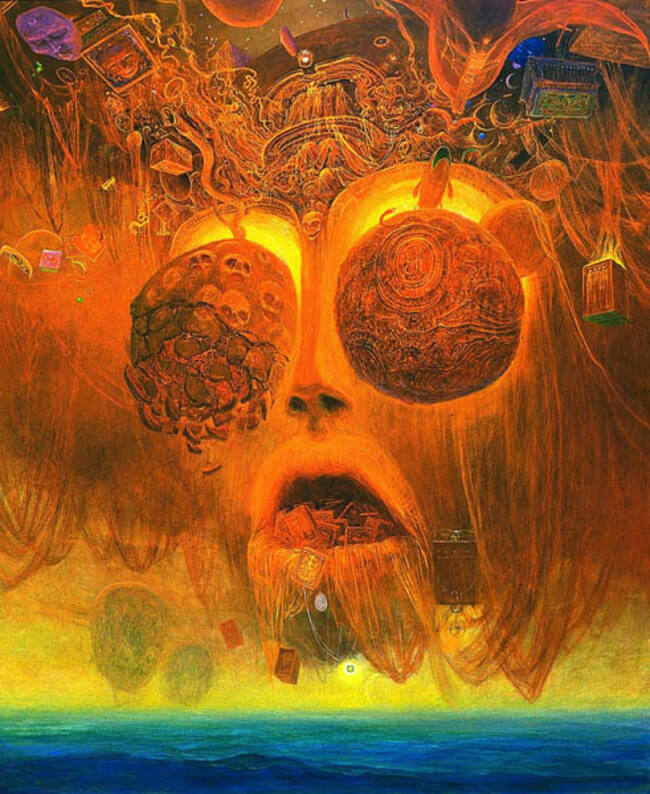 Zdzislaw Beksinski terrifying art 13