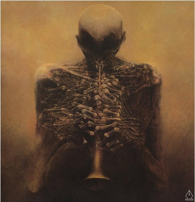 Zdzislaw Beksinski terrifying art 1