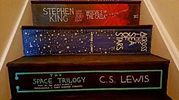 staircase painted like books 5