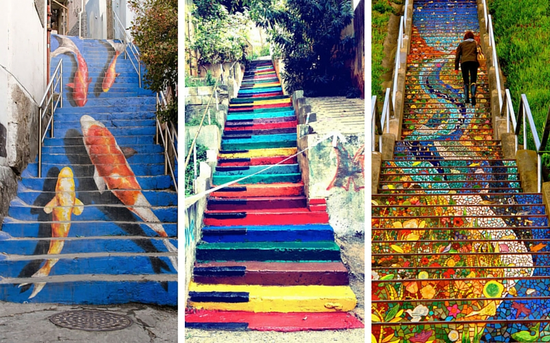 stairs street art feat
