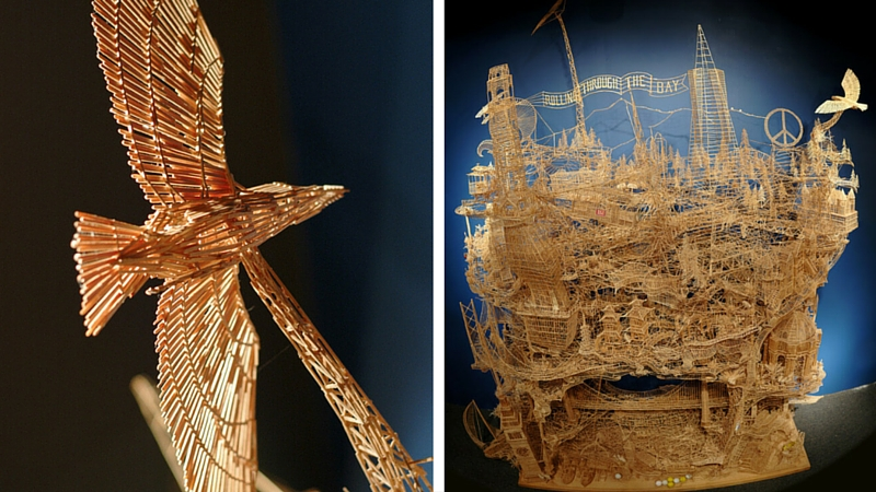 toothpick sculptures feat