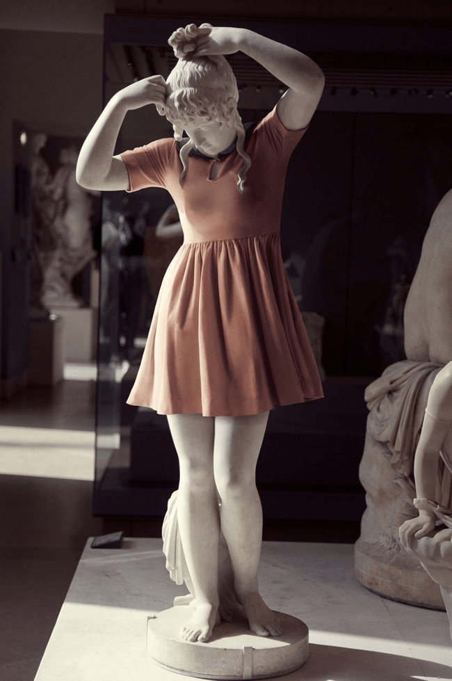 classical statues dressed in modern clothes 4