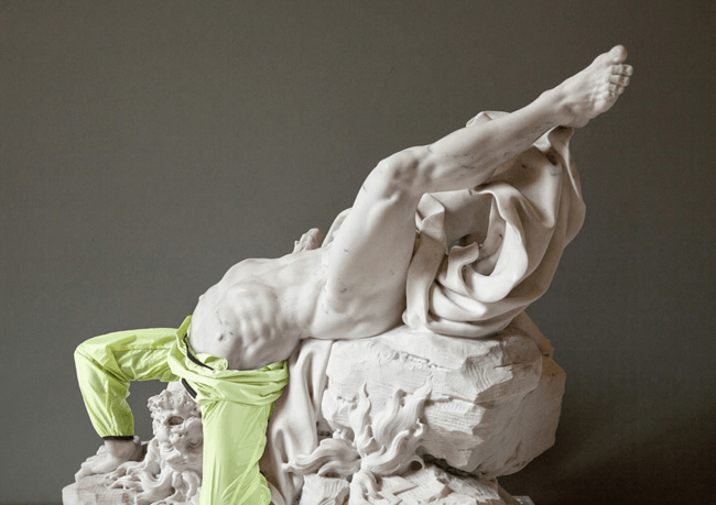classical statues dressed in modern clothes 10
