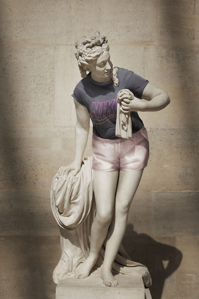classical statues dressed in modern clothes 9
