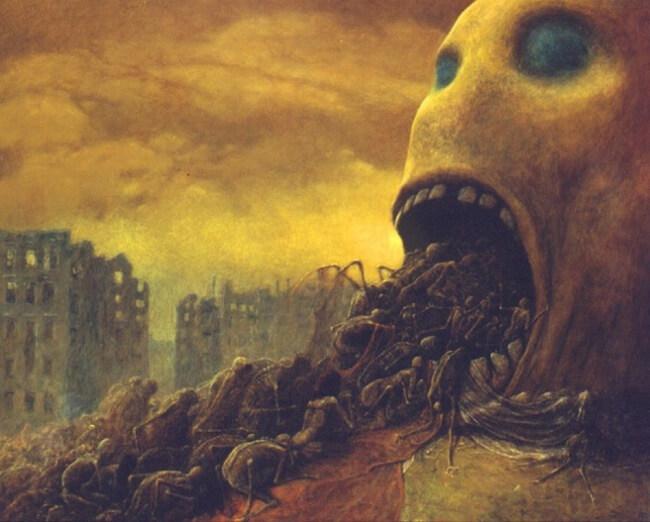 Zdzislaw Beksinski terrifying art 14