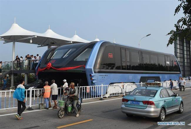 china elevated bus 2