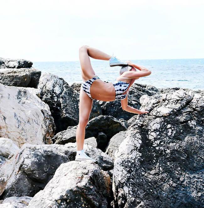 Swedish pilot does yoga around the world 10