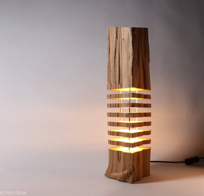Paul Foeckler 1 & Beautiful Sliced Firewood Lamps Will Give The Impression Of Natural ...