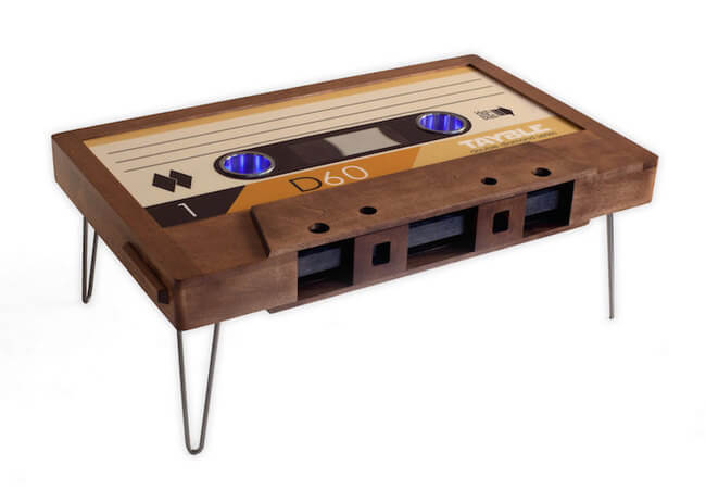 cassette tape coffee table 10