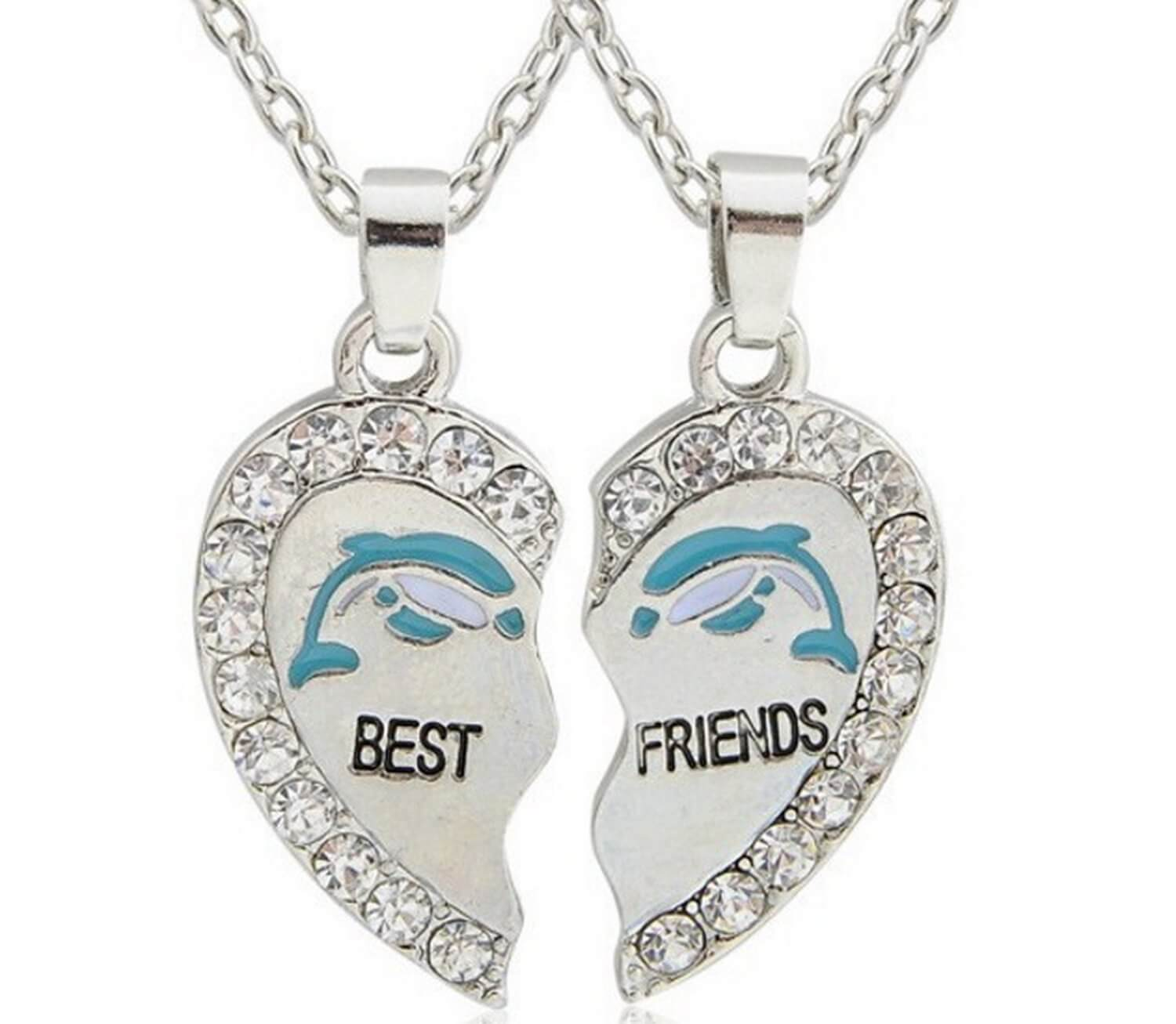 necklaces friend set eloi girls inch heart dp best for multicolor gifts friendship com necklace amazon jewelry teen piece lockets