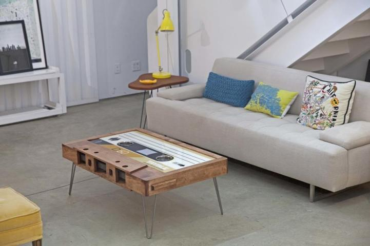 cassette coffee table