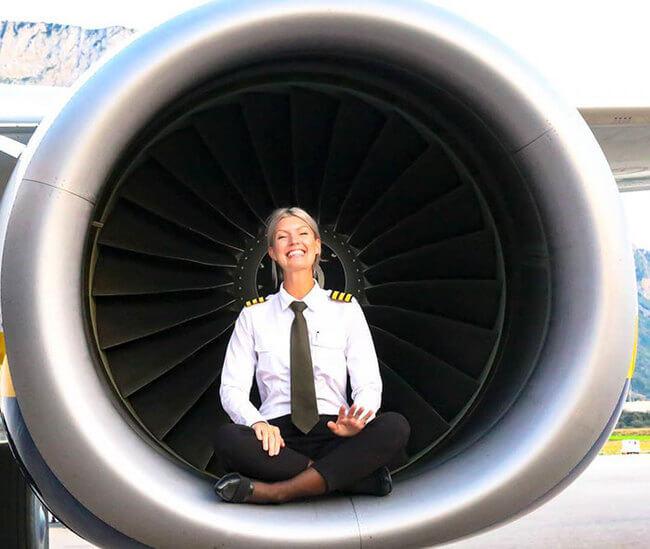 Swedish pilot does yoga around the world 12