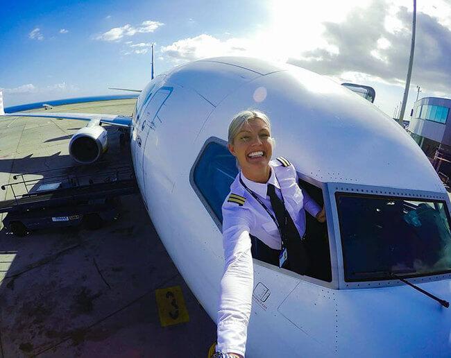 Swedish pilot does yoga around the world 4