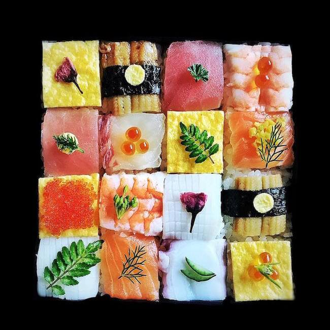 mosaic artwork sushi trend 5
