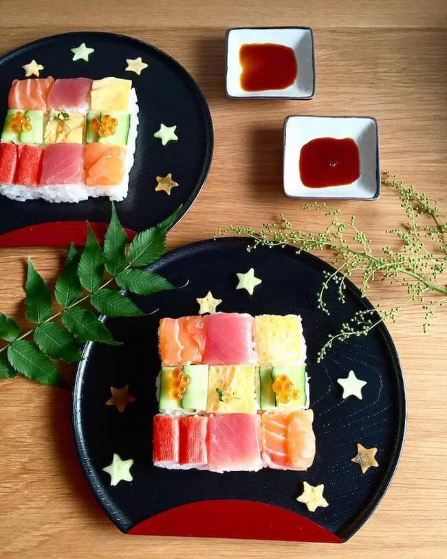 mosaic artwork sushi trend 9