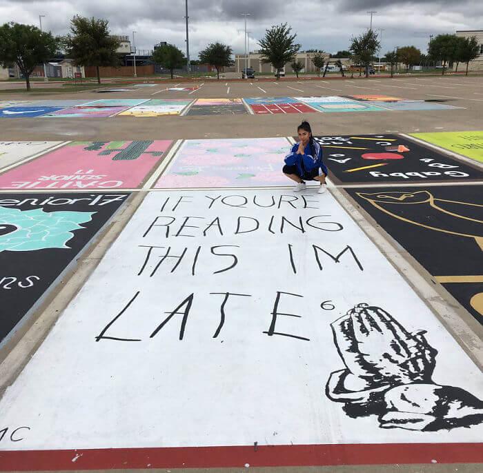 parking spot art by seniors (1)