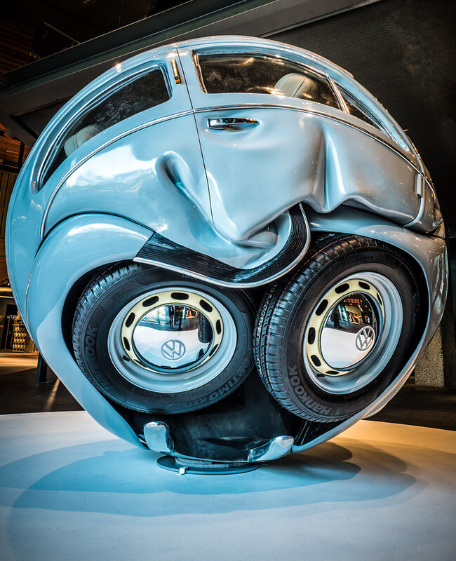 Cars Compressed into Perfect Spheres 1