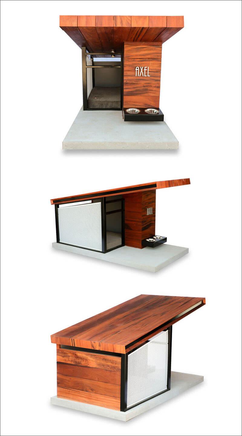 Modern dog house looks better than my house designed by for Modern dog house designs
