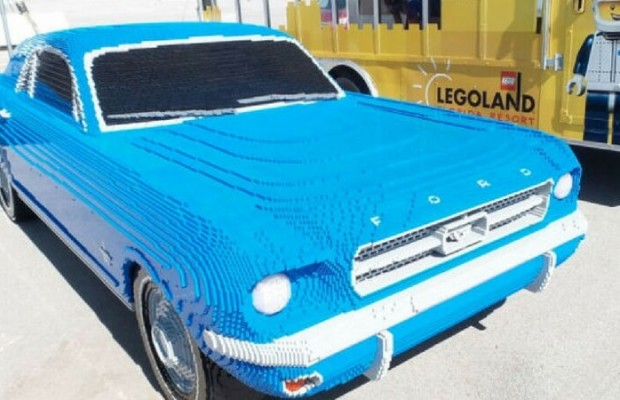 epic lego mustang in full size created to perfection