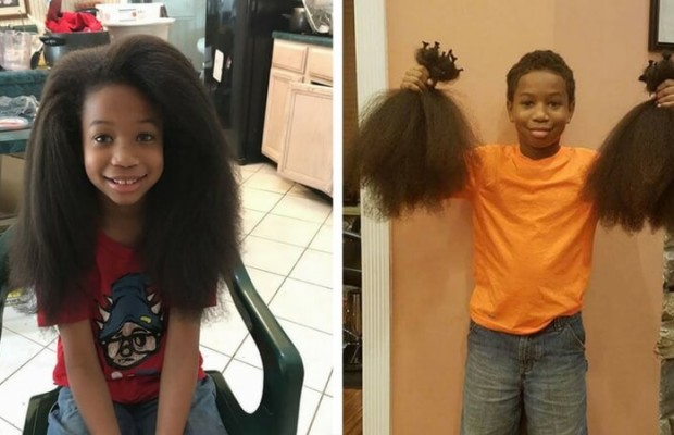 8 Year Old Boy Grew His Hair For Two Years To Make Wigs