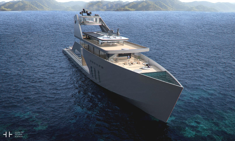 yacht with a private beach 3