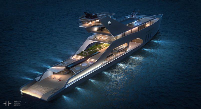 yacht with a private beach 9