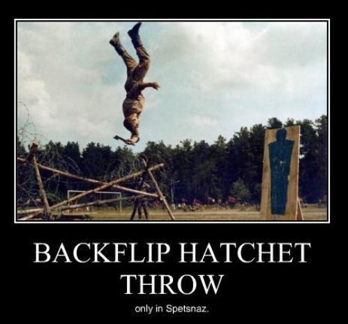 crazy pictures - insane hatchet throw