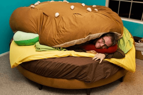 awesome and cool images - burger bed