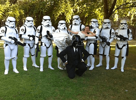 amazing pictures - star wars wedding