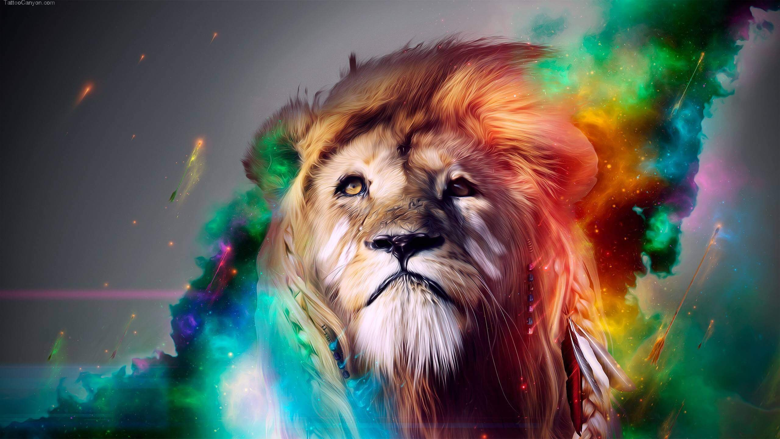 awesome photos - lion colored