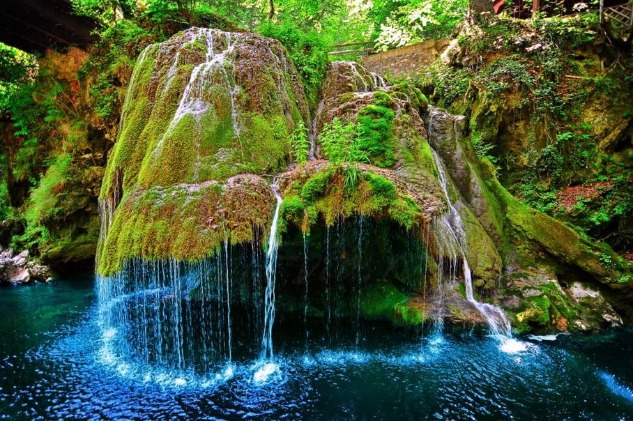 Bigar waterfalls romania is a beautiful mix of water grass and magic - Most beautiful manors romania ...