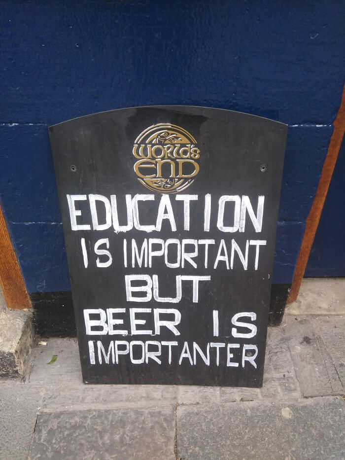 32 Funny Chalkboard Signs From Bars That Will Totally Get ...