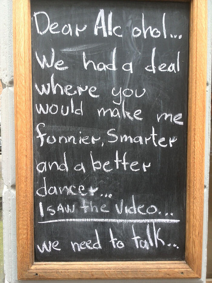32 Funny Chalkboard Signs From Bars That Will Totally Get