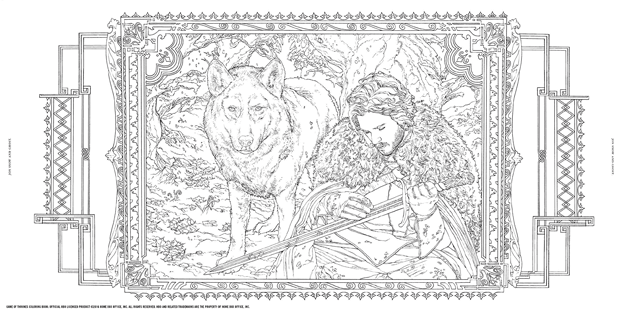 game of thrones coloring book 5 1 - Game Of Thrones Coloring Book