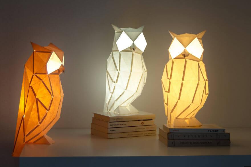 origami paper lamps (1)