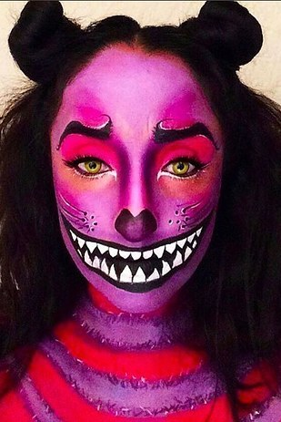 21 Scary Halloween Makeup Before And After That Will Creep - Scary Cat Halloween Makeup