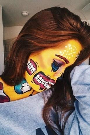 gross halloween makeup 14