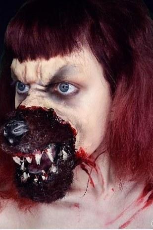 gross halloween makeup 15