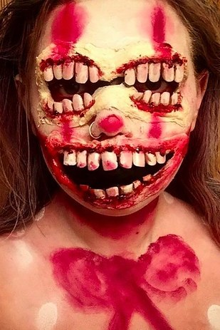 creepy halloween makeup 18