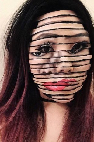 21 Scary Halloween Makeup Before And After That Will Creep You Out