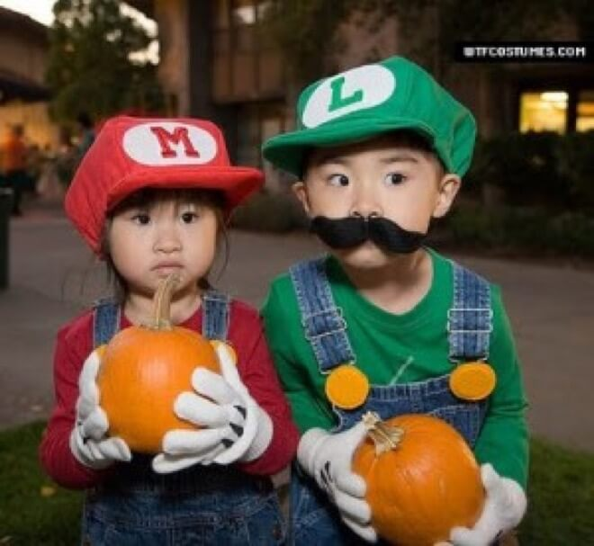 18 Mario and Luigi never knew Mario was asianu2026 twin costume ideas ...  sc 1 st  The Awesome Daily & 20 Great Twin Costumes Ideas To Wear This Halloween