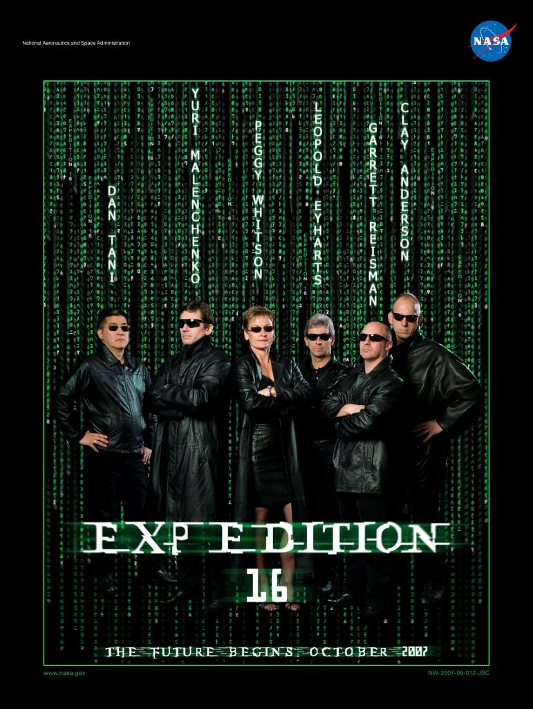 ISS Expedition Astronauts movie parody posters (1)