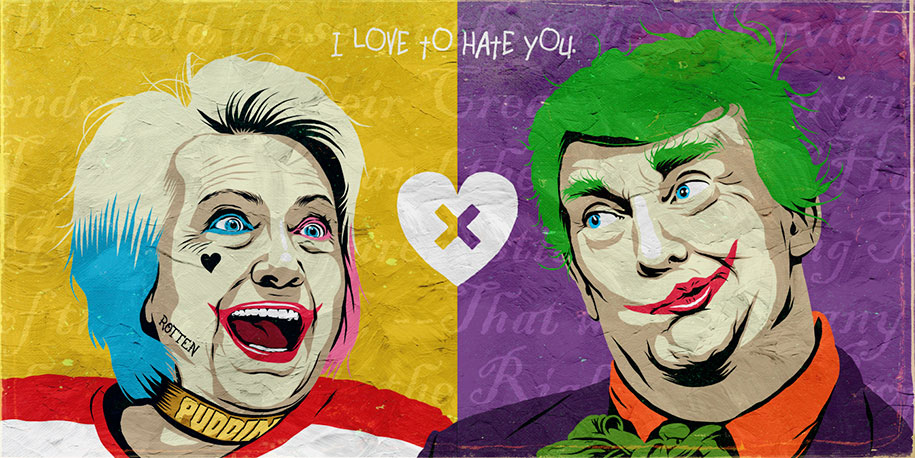 billy butcher trump clinton pop characters 2