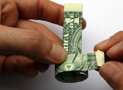 how to make a dollar bill ring 14