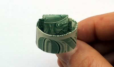 how to make a dollar bill ring 19